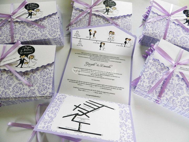 Invitación lilac family