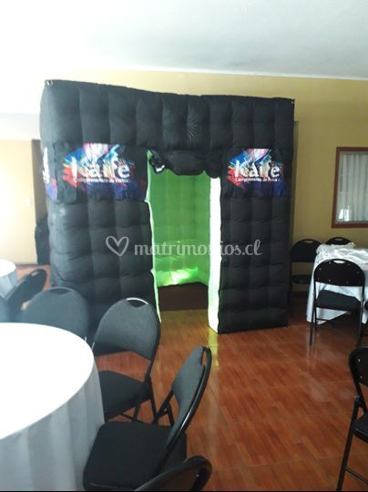 Cabina inflable luces LED