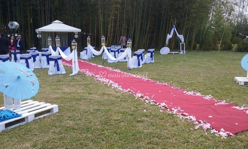 Alfombra para bodas