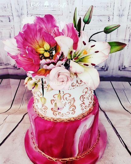Flores y bordado