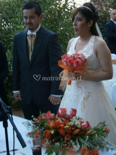Arreglo y ramo de novia