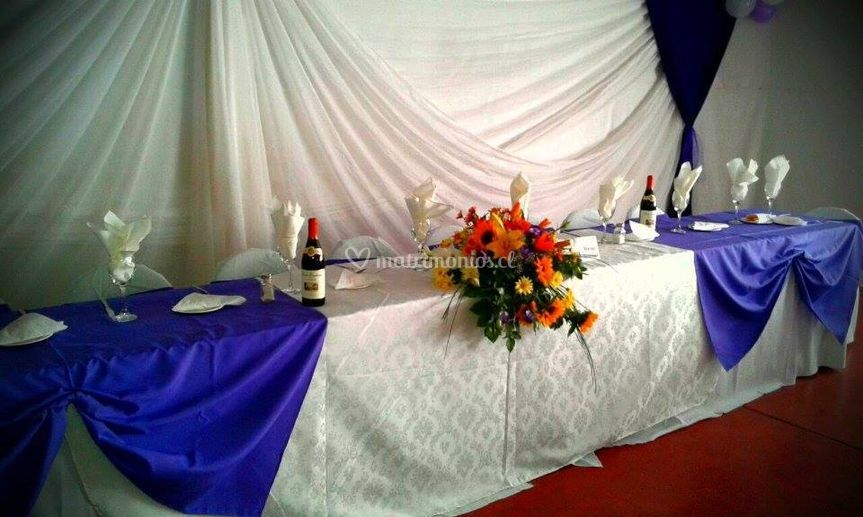 Mesa para los novios
