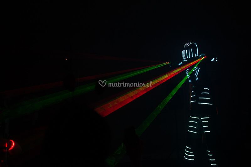 Robot led gigante