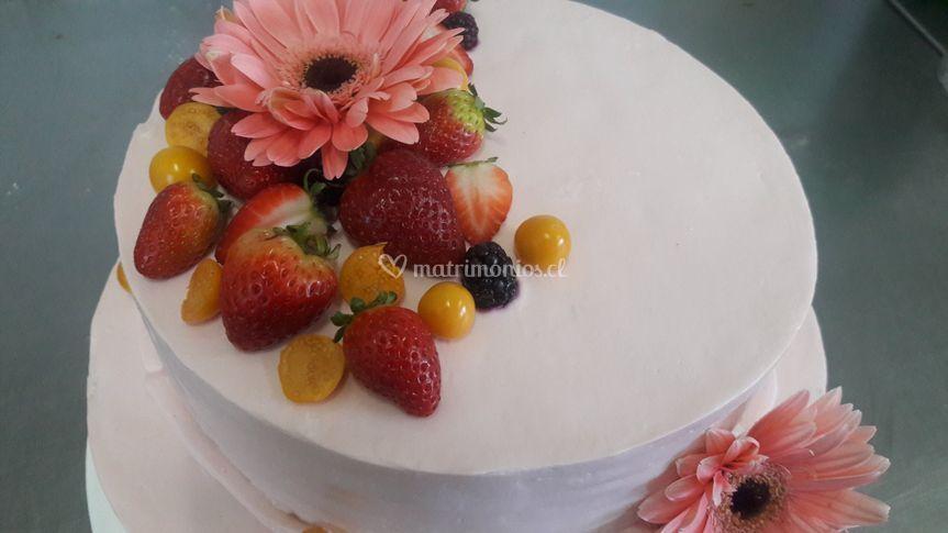 Torta de novios rústica