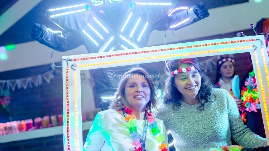 Robot led + marco de selfie