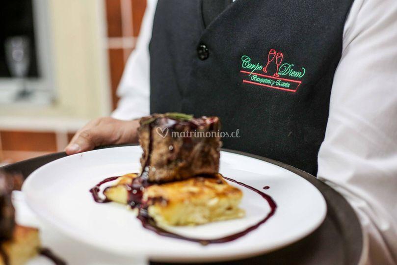 Gastronomía de alta gama de Carpe Diem Banquetería