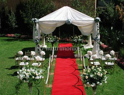 Decoraciones para ceremonia