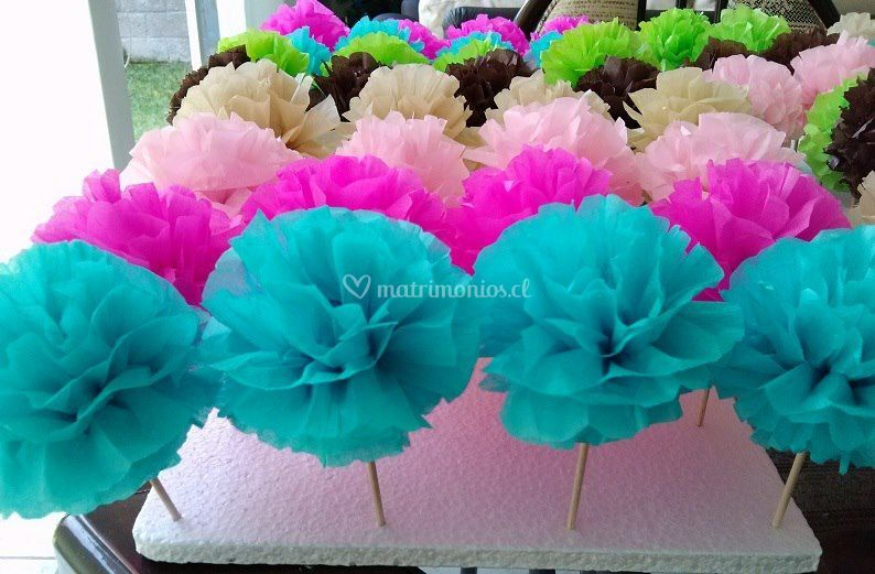 Pompones cupcakes