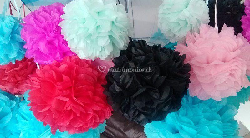 Pompones decorativos