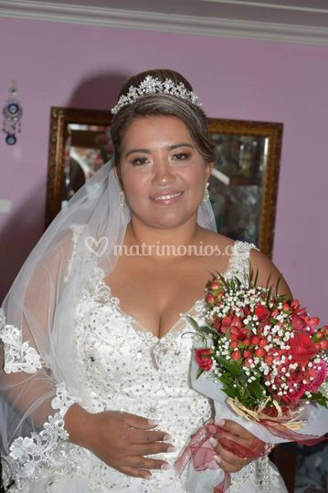 Evelyn y su look nupcial