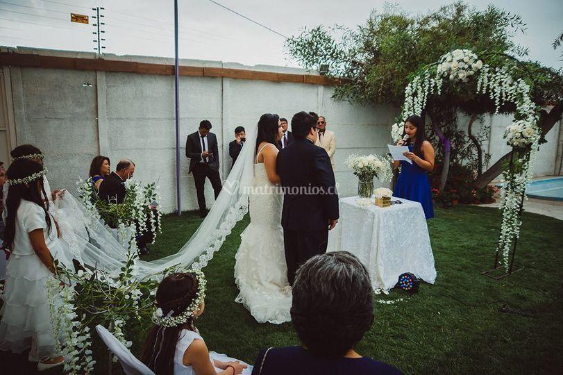 Ceremonia simbólica lazos