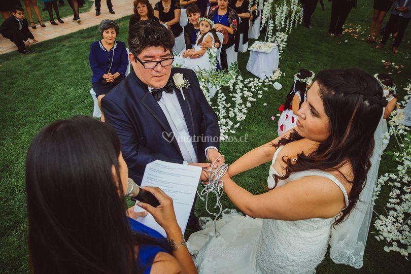 Ceremonia Simbólica de Karen Araya Maestra de Ceremonia