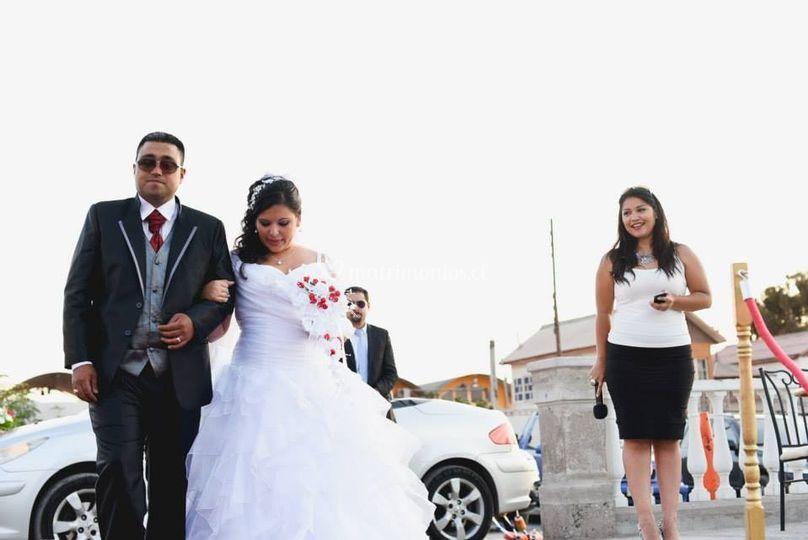 Recién casados de Karen Araya Maestra de Ceremonia