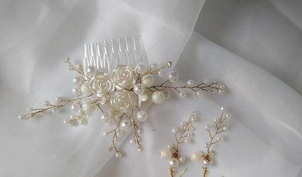 Flores Elizabeth - Tocados de Novia
