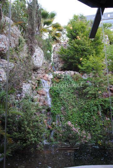 Cascada salón La Cantera