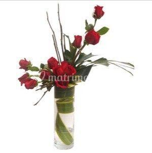 Delicado diseño de 12 rosas