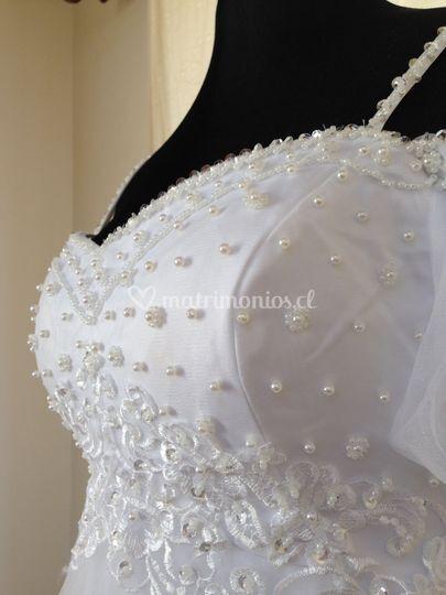 Perlas para el vestido