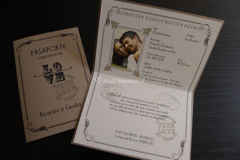 Parte tipo pasaporte