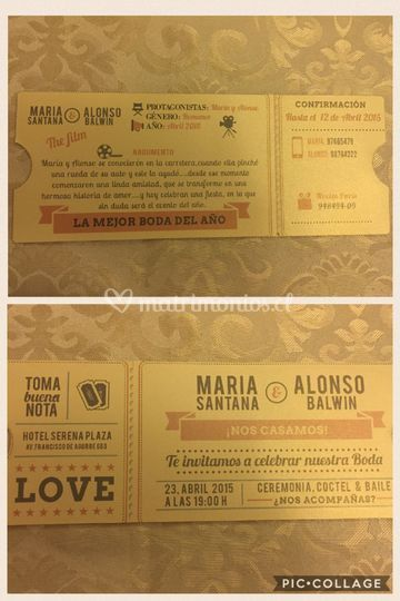 Invitación ticket