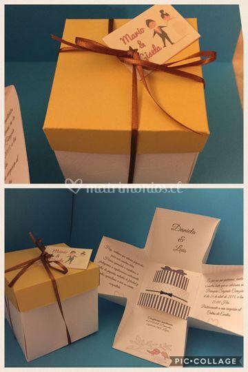 Invitación en caja