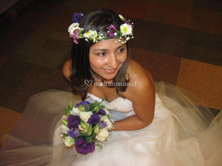 Ramo y Tocado de novia