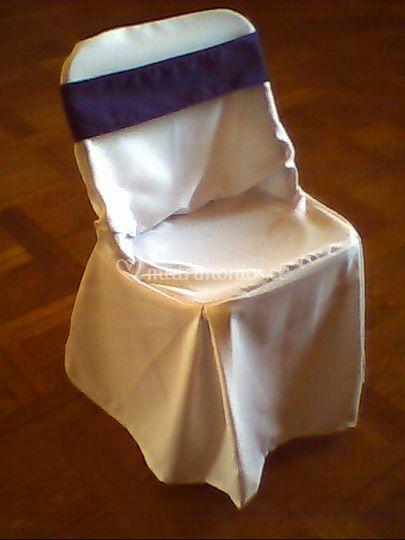 Cubre silla Lazo azul naranjo