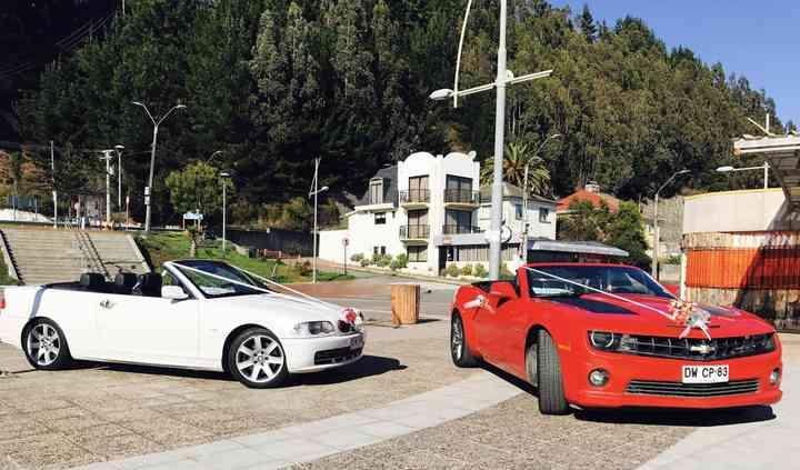 BMW 330 y Chevrolet Camaro