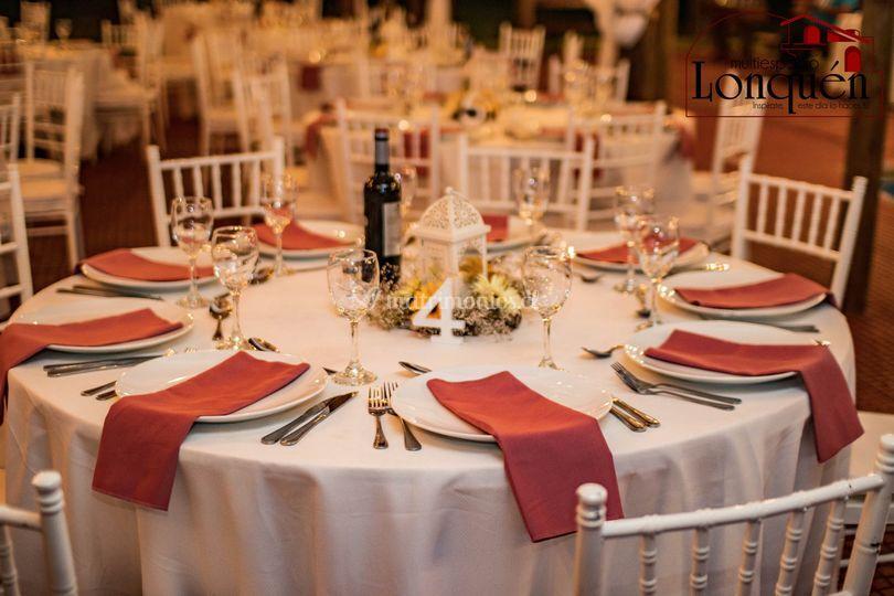Mesa blanco / rojo
