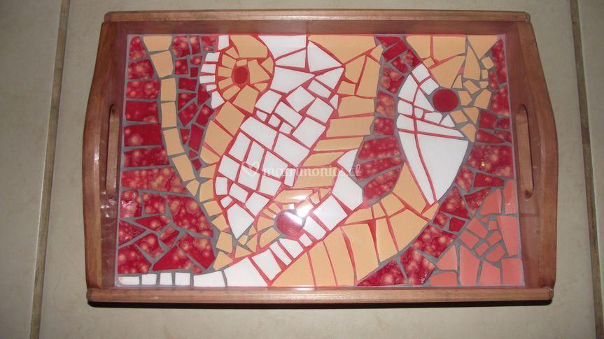 Bandejas en raulí mosaico