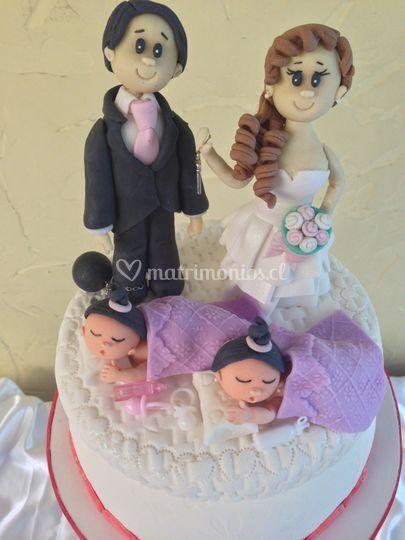 Novios para la torta