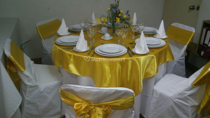 Mesas dorado