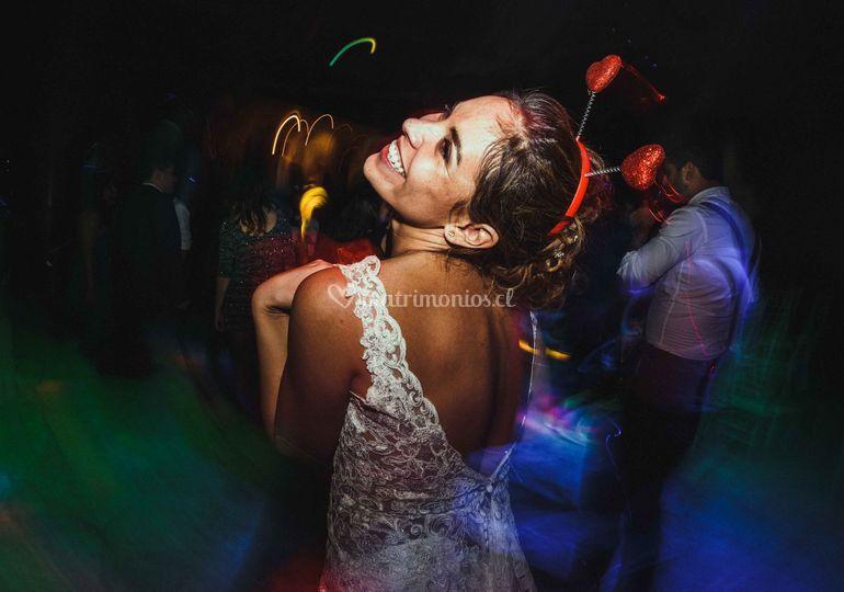 Novia en fiesta