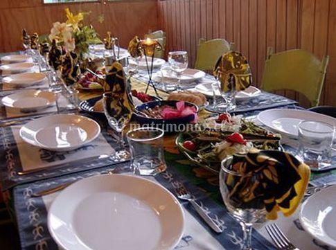 Mesa para banquete de Te Raai Restaurant
