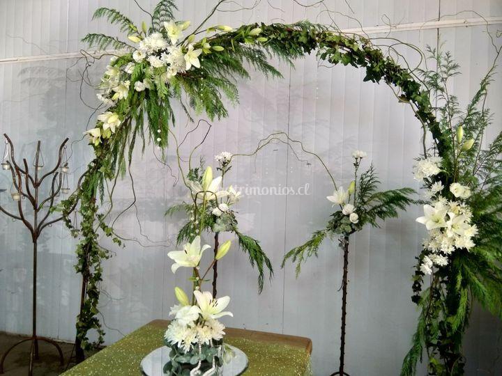 Arco floral bisantino