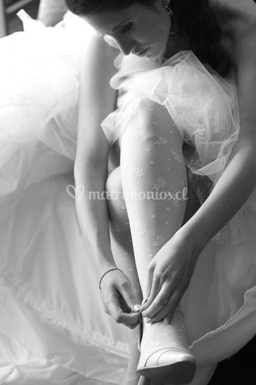 El calzado de la novia