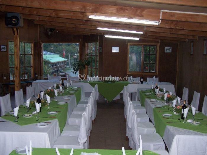 Mesones rectangulares sobremesas verde