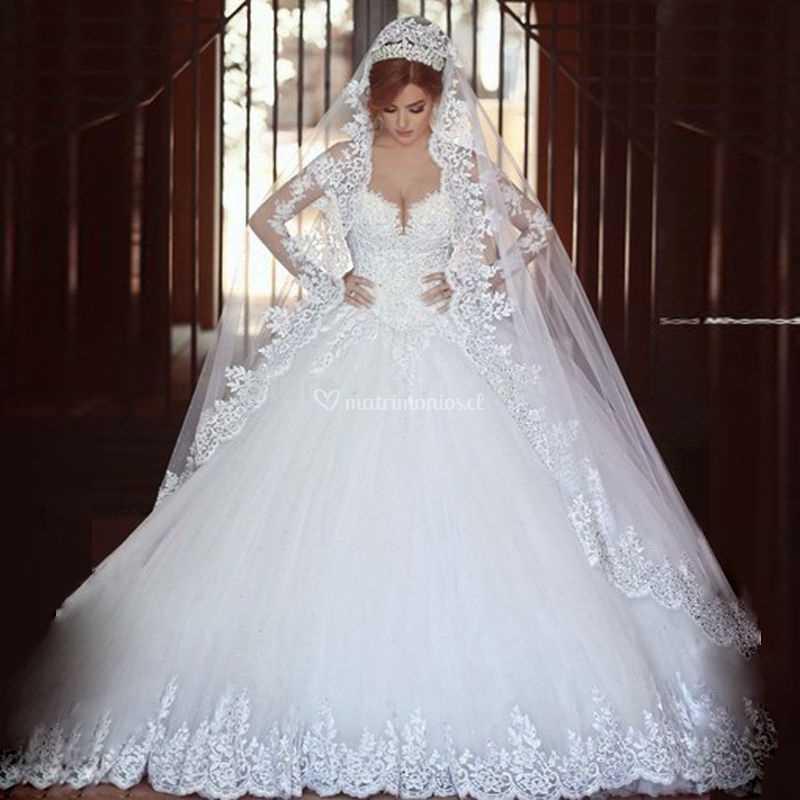 Imagenes de vestidos de novia estilo princesa 2016
