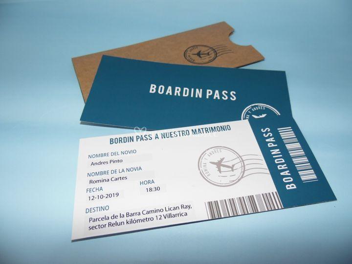 Diseño Boardin pass