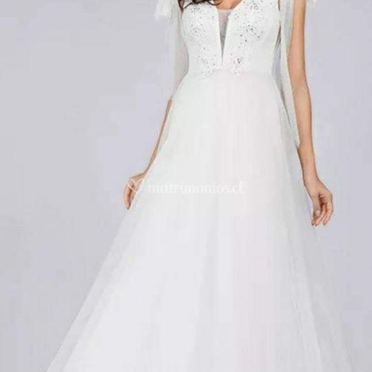 Vestido Elegante tull,Talla M