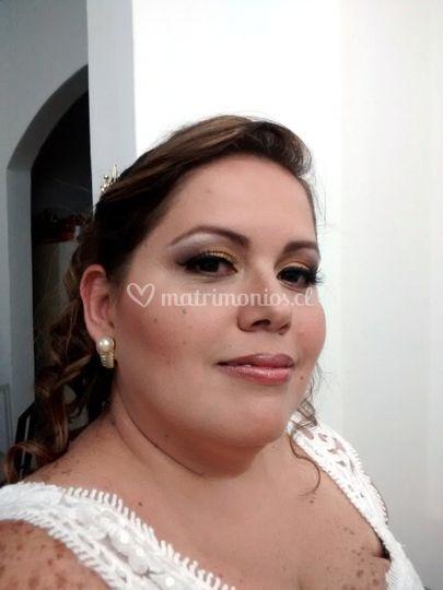 Novia maquillaje tonos bronces