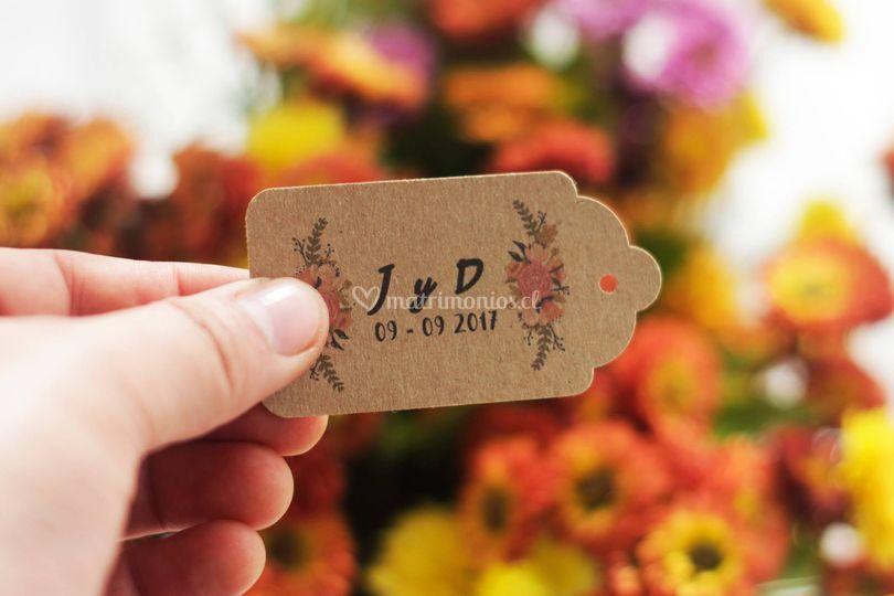 Tags para souvenirs