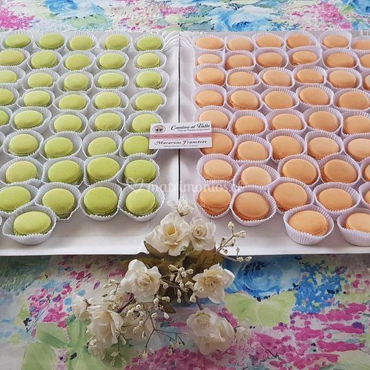 Bandeja de Macarons colores