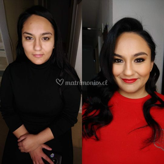 Maquillaje peinado para gala