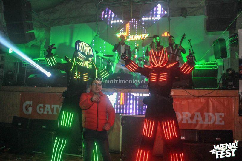 Show robot y grupos en vivo