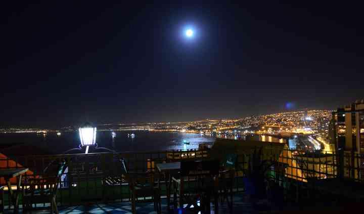 Foto mirador de noche