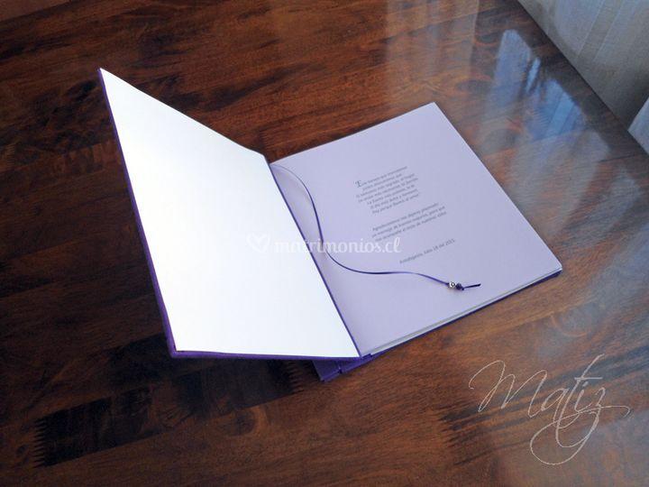 Texto 1º hoja libro púrpura