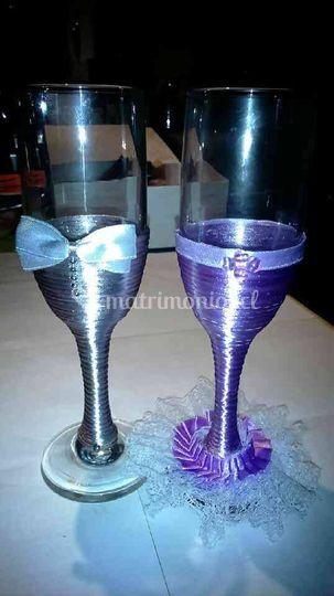 Copas para el brindis