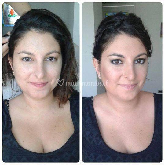 Makeup · antes y después