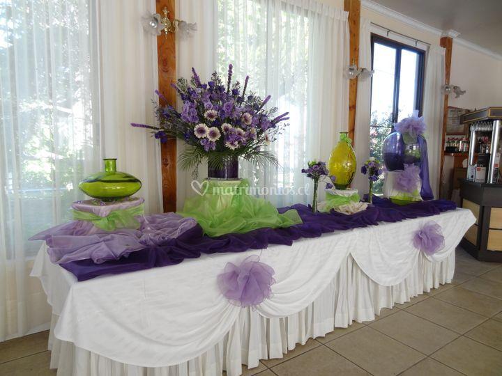 Violeta y verde
