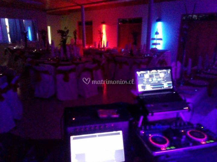 Matrimonio en salón de eventos